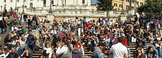 Испанская лестница в Риме: есть, чем удивить