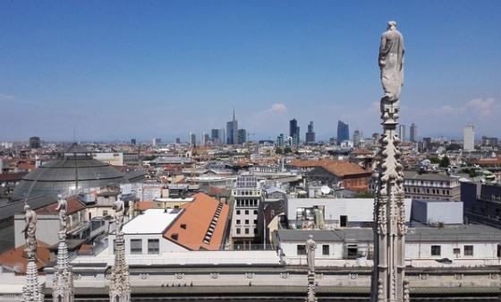На крыше Дуомо в Милане