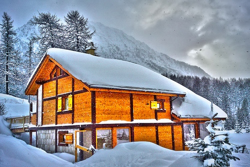 Итальянские Альпы зимой, фото