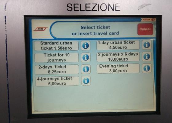 Цены билетов в общественном транспорте Милана
