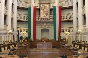 Комната, где в 1797 году была объявлена Циспаданская Республика и создан итальянский триколор
