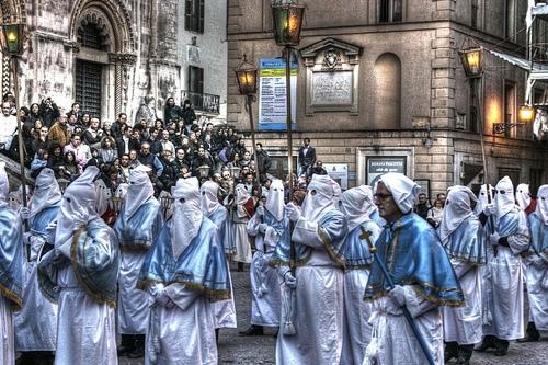 Процессия в страстную пятницу, фото, Италия