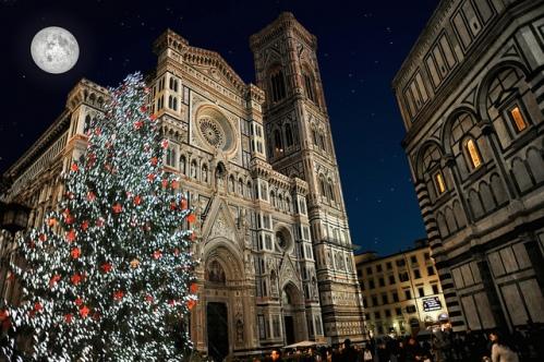 Рождество, фото, Флоренция, Италия