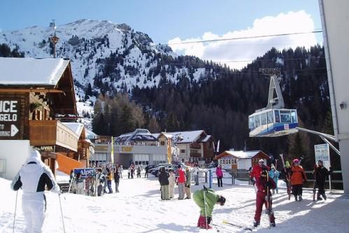 Катание на лыжах, фото, Доломитовые Альпы, Италия