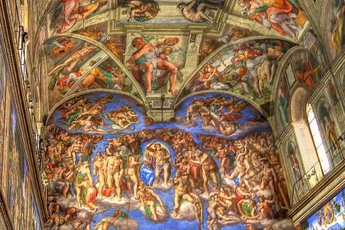 Сикстинская капелла, фото, Страшный суд, Ватикан, Рим, Италия