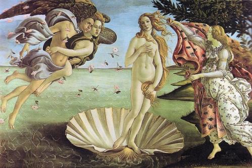 Рождение Венеры Боттичелли, фото, Галерея Уффици, Флоренция, Италия