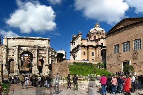 арка Септимия Севера и Курия, Римский форум