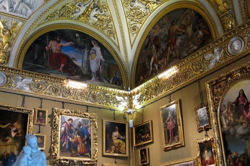 Залы в Галерее Уффици, фото, Флоренция, Тоскана, Италия