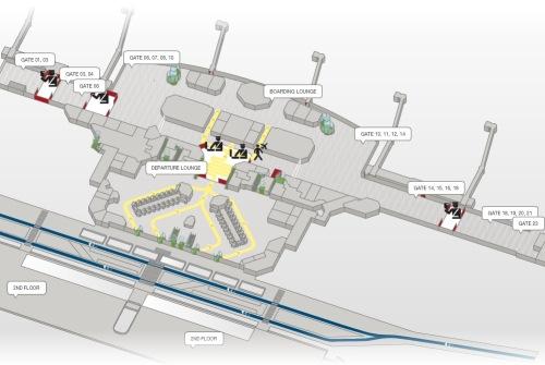 Так что схема аэропорта Турина