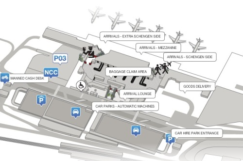 Схема аэропорта турина