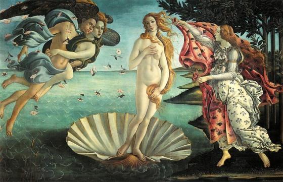 Рождение Венеры в Галерее Уффици