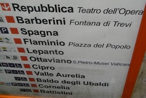 Схема метро Рима проста: всего