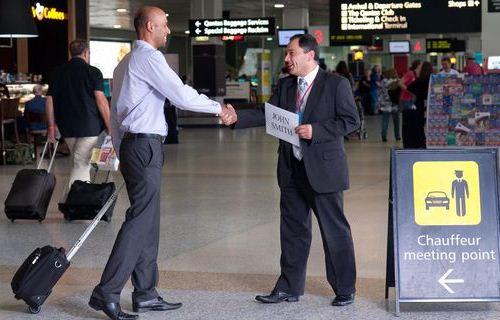 Встреча гостей в аэропорту