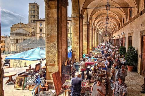 Гид во Флоренции, фото, антикварный рынок в Ареццо, экскурсии из Флоренции, Италия
