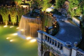 На территории парка виллы д'Эсте около 500 фонтанов