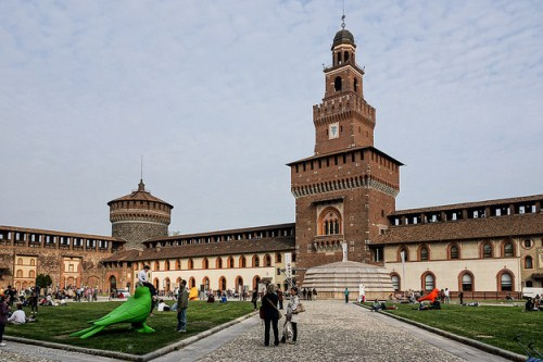 Русскоговорящий гид в Милане, фото, Замок Сфорца, Милан, Италия