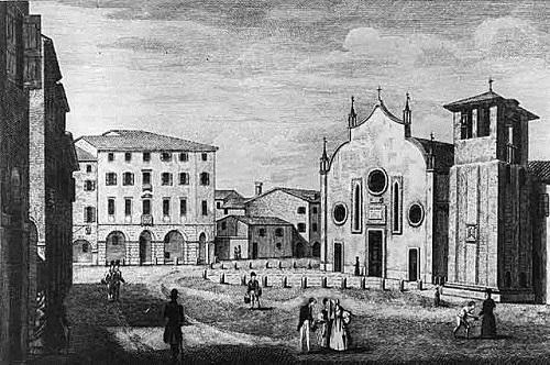 Так выглядел город Тревизо (Италия) в XIX веке