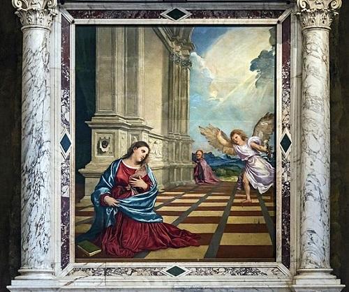 """""""Благовещение"""" Тициана в кафедральном соборе города"""
