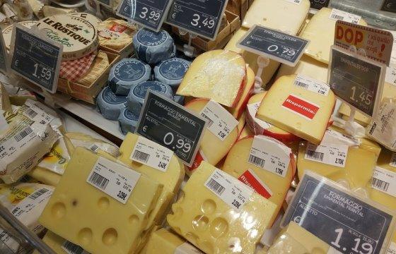 Цены на сыр в супермаркетах Милана