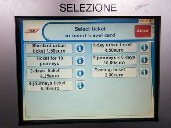 Цены на билеты в Милане