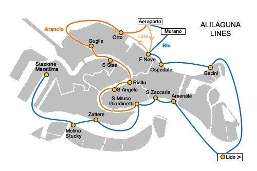 Водный транспорт из аэропорта Венеции