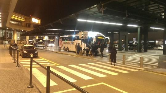 Аэропорт Мальпенса, остановка автобусов