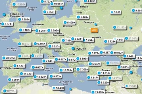 Стоимость авиабилетов в Италию