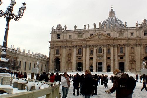 Снег в Риме - крайне редкое явление