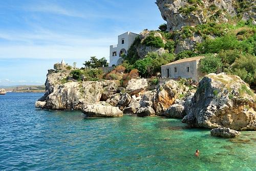 Пляж Скорпелло на Сицилии
