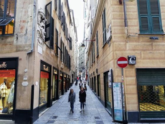 Старый город в Генуе