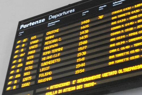 Железнодорожный вокзал в Италии