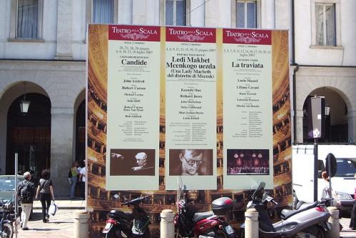 Афиша оперного театра Ла Скала