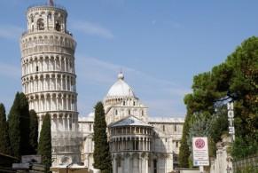 Падающая башня, фото, Пиза, Тоскана, Италия