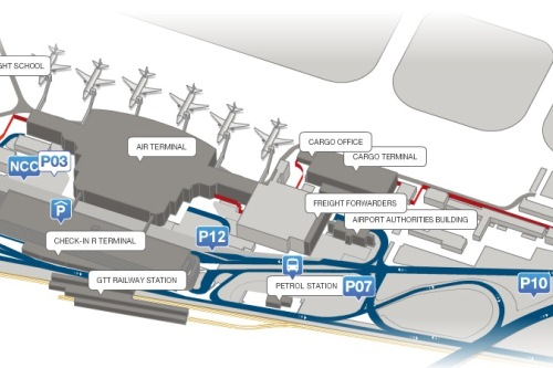 Схема аэропорта в Турине
