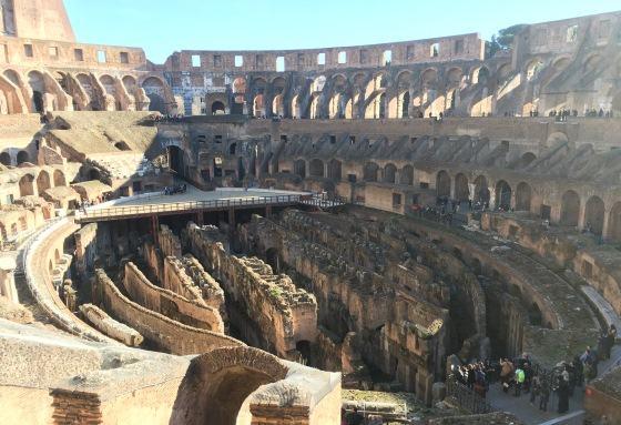 Подземные помещения Колизея