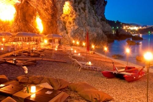 Пляж отеля на Сицилии