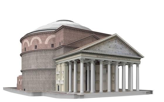 3D модель Пантеона в Риме