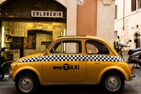 Такси в Италии, фото, Рим, Италия
