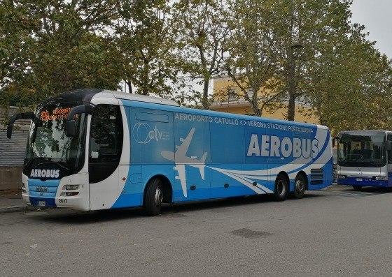 Автобус из аэропорта Вероны до города