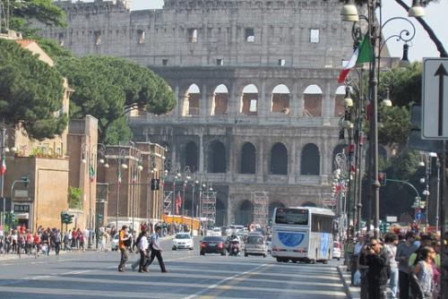 Погода весной в Риме