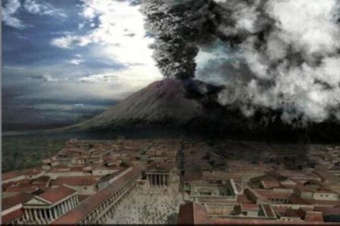 Извержение вулкана Везувия