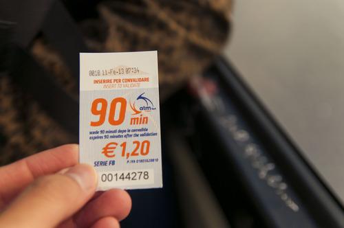 Билеты на городские автобусы в Италии