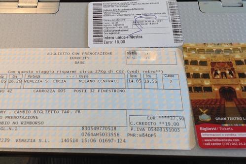 Что взять с собой в Италию,фото, Билеты на транспорт и в музеи, Италия
