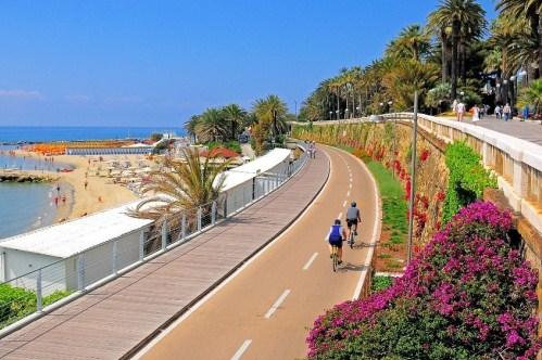Велосипедная дорожка в Сан-Ремо