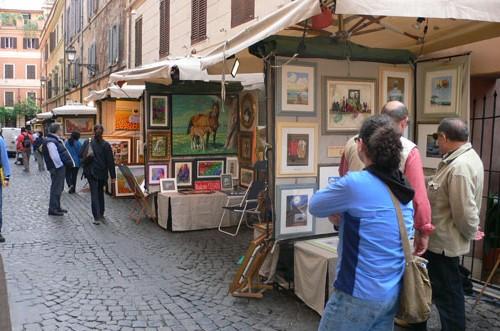 Выставка 100 художников в Риме