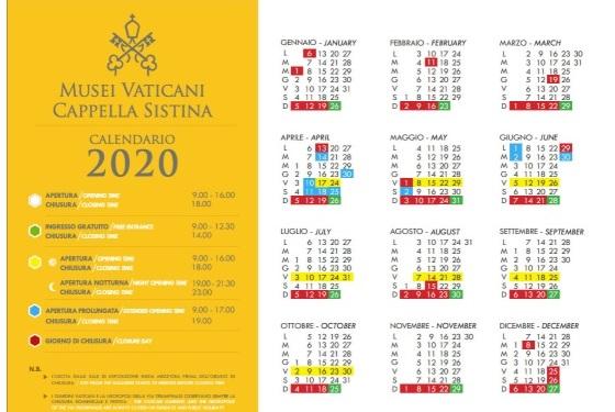 График работы музеев Ватикана