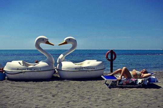 Пляж Остия в Риме