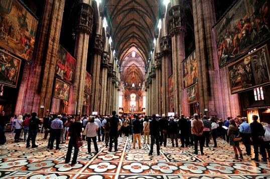 Миланский Собор изнутри