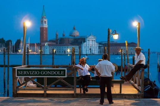 Прогулка на гондоле о Венеции
