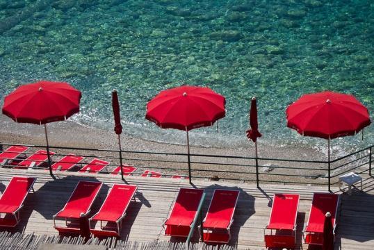 Пляж на острове Капри